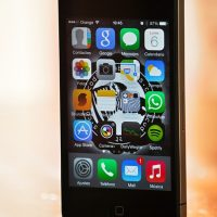 Iphone screen with apps on it