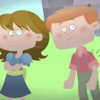 Cartoon Jack and Jill have ADHD