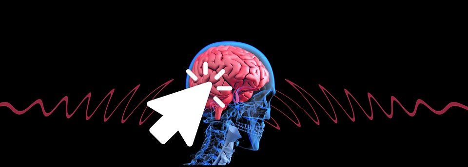 Cursor click over human brain image